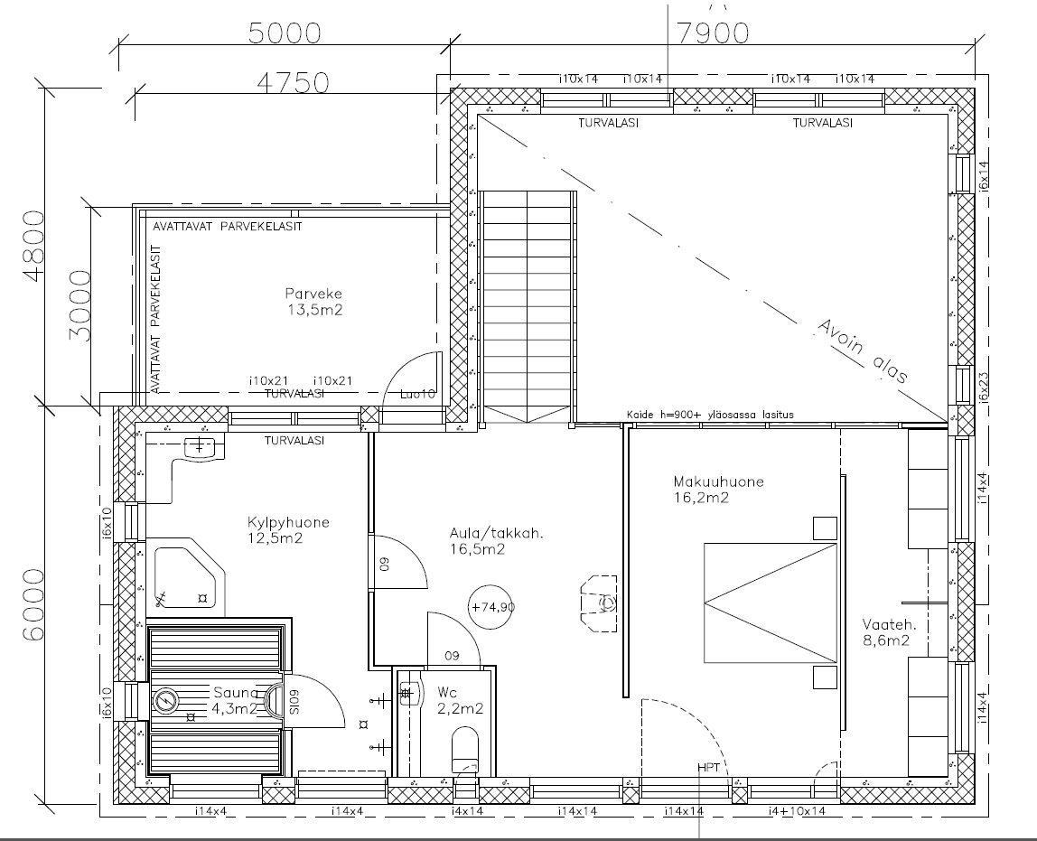 Asuntomessut 2016 LKV vaisto -talo yläkerta