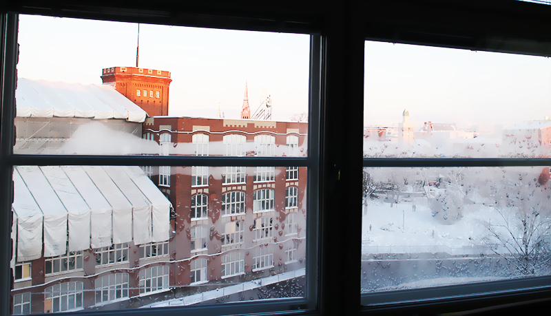 Kaunis Tampere Proakatemian tiloista katsottuna