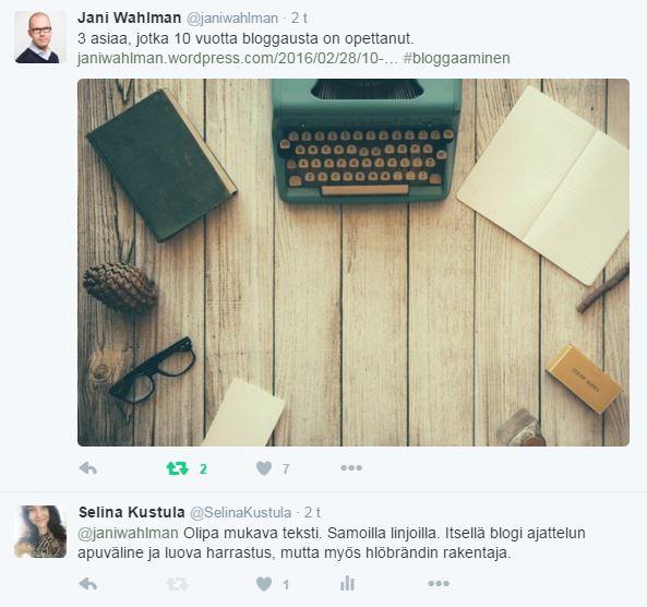 twitter_bloggaaminen_jani_wahlman_selina_kustula