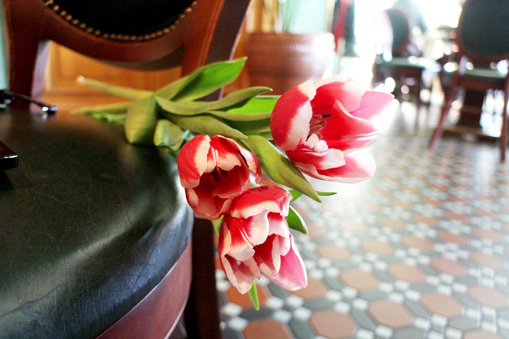 Naistenpäivä Venäjällä - kuva Pietarista Singer-kahvilasta / -kirjakaupasta