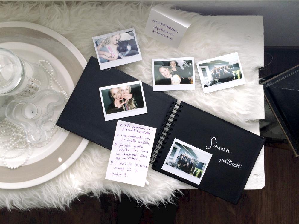 Sinnan polttarit / vieraskirja polttareihin / polaroid-kamera